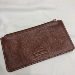 Vintage Dooney & Bourke brown leather wallet